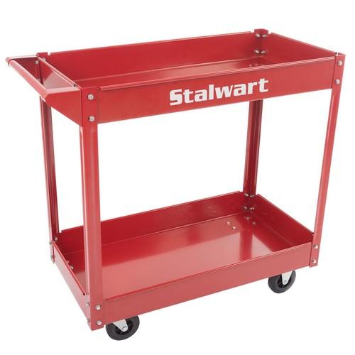 Stalwart 33 in. Metal Utility Cart (2-Tray)