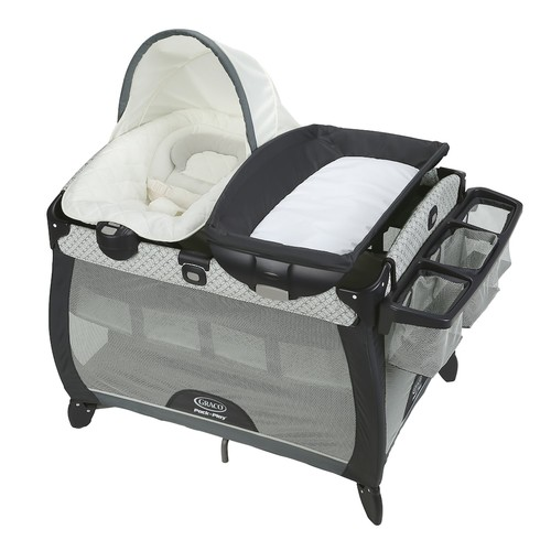 Graco Pack 'N Play Quick Connect Portable Napper Deluxe With Bassinet - Mckinley