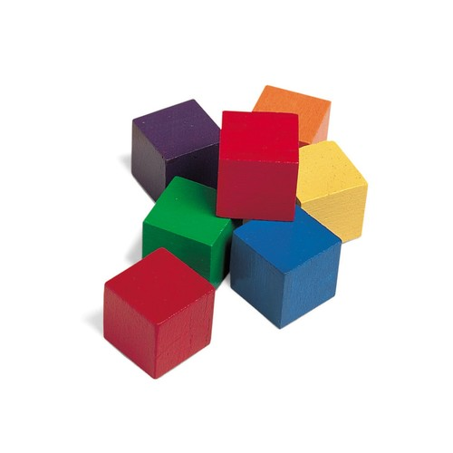 Learning Resources One-Inch Wooden Color Cubes, Set of 102