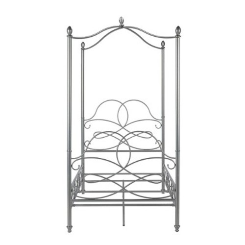 Scrollwork Canopy Bed (Twin) - Silver - Dorel Home Products