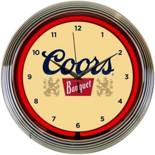 Neonetics 15'' Coors Banquet Beer Neon Clock