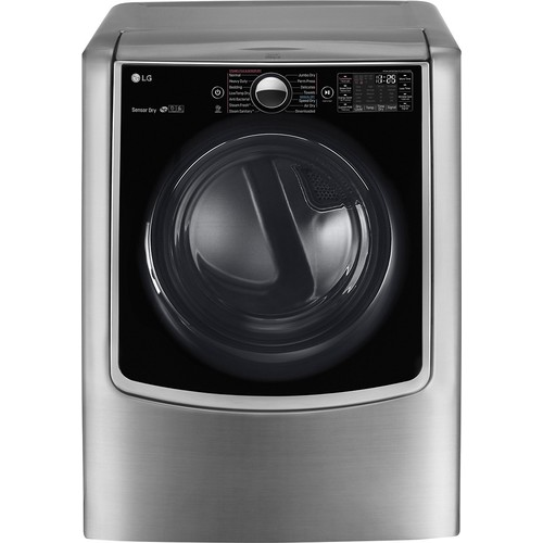 LG - 9.0 Cu. Ft. 14-Cycle Electric Dryer with Steam and Wi-Fi Connectivity - Graphite Steel
