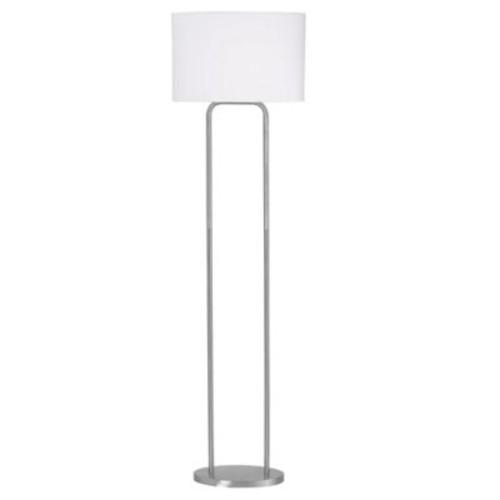 Kenroy Home Duet Floor Lamp in Brushed Steel