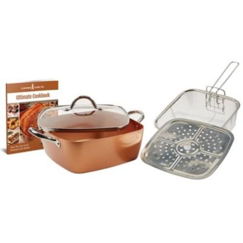 Copper Chef 5-Piece XL 11-Inch Square Casserole Pan Set