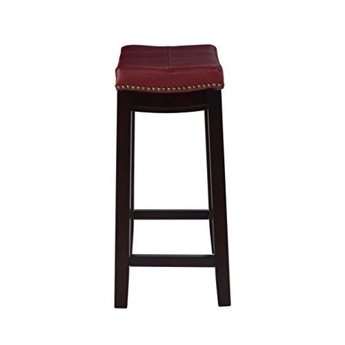 Linon Claridge Counter Stool, Red