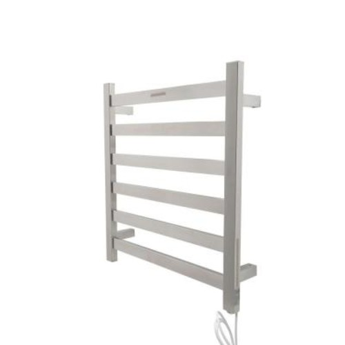 ANZZI Note 6-Bar Stainless Steel Wall Mounted Electric Towel Warmer Rack in Brushed Nickel