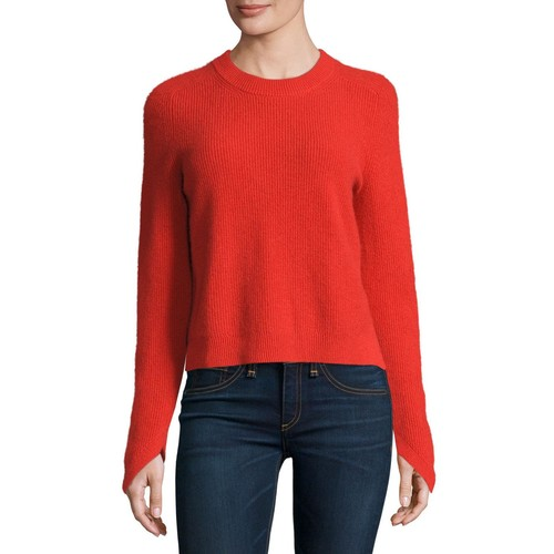 RAG & BONE Valentina Ribbed Cashmere Sweater, Fiery Red