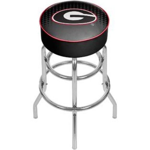 TRADEMARK GLOBAL GEORGIA BULLDOGS REFLECTION CHROME PADDED SWIVEL BAR STOOL