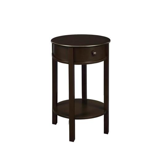Ameriwood Home Hallmark Espresso Storage End Table