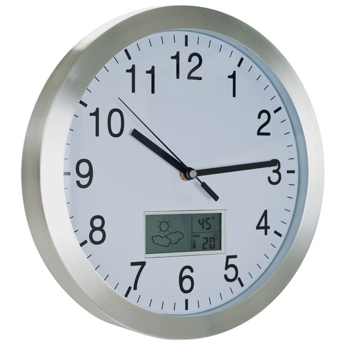 TGT Weather Forecast Wall Clock - 12 inch Aluminum