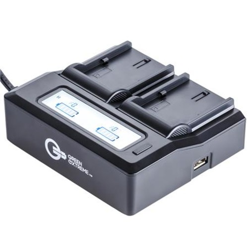 Dual Smart Charger with LCD Screen for Canon NB-10L GX-CH2-NB10L