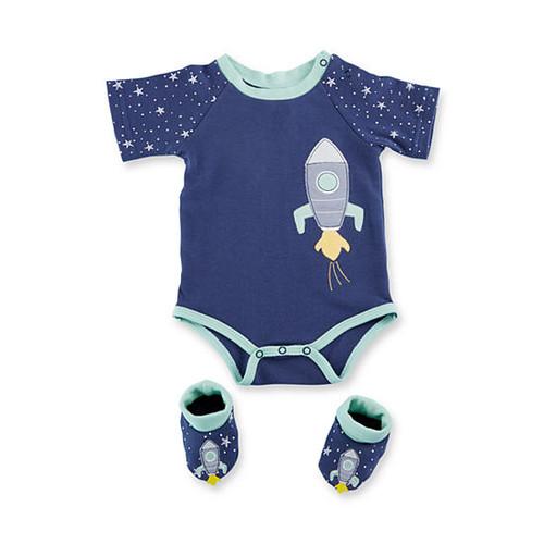 Baby Aspen Cosmo Tot Spaceship 2-Piece Gift Set