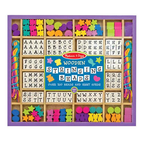Melissa & Doug Wooden Stringing Beads: Toys & Games