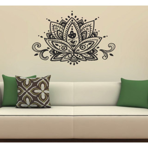 Lotus Flower Wall Vinyl Decal
