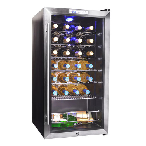 Air - 27-Bottle Wine Cooler - Stainless Steel/Black