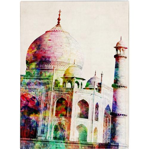 Trademark Fine Art Michael Tompsett 'Taj Mahal' Canvas Art 24x32 Inches