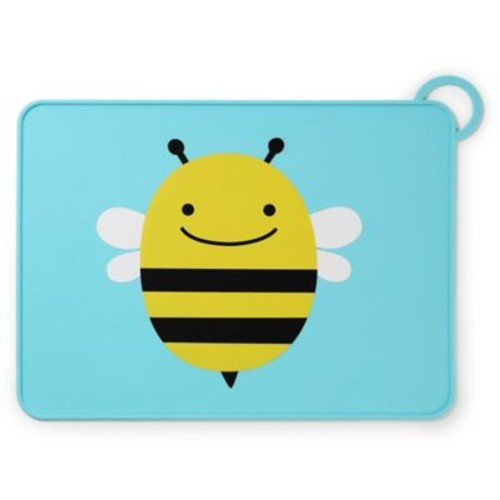 SKIP*HOP Zoo Reusable Bee Fold & Go Silicone Placemat