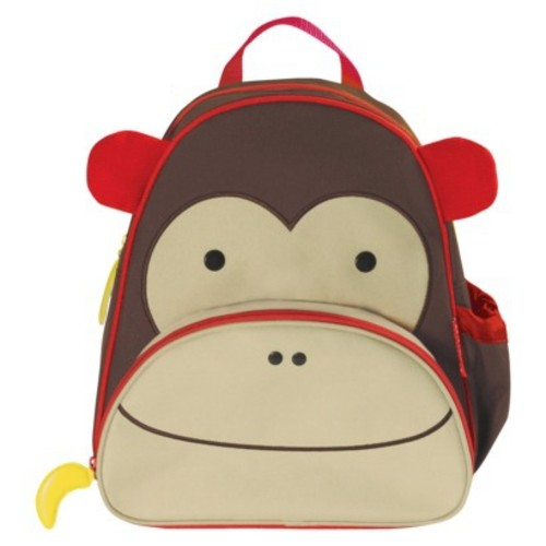 Skip Hop Zoo Toddler Kids Insulated Backpack Marshall Monkey Boy, 12-inches, Brown [Monkey]