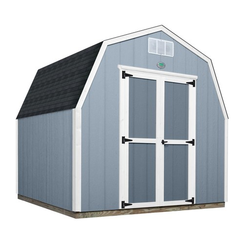 Backyard Discovery Backyard Discovery 8 ft. x 8 ft. Prefab Wooden Storage Shed with Floor Decking, Shingles and All Hardware Included