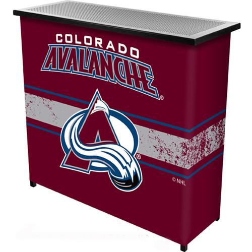 NHL Colorado Avalanche Two Shelf Portable Bar with Case