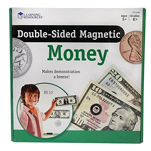 Learning Resources Double-Sided Magnetic Money Children, Kids, Game