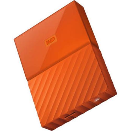 4TB My Passport USB 3.0 Secure Portable Hard Drive (Orange)