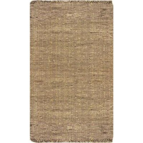 nuLOOM Chunky Loop Jute Beige 5 ft. x 7 ft. 6 in. Area Rug