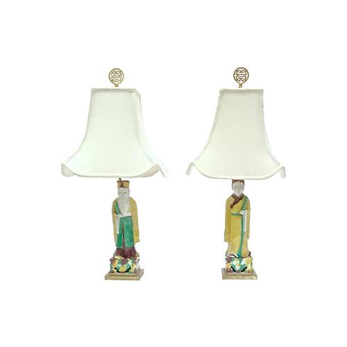 Antique Figural Lamps, Pair