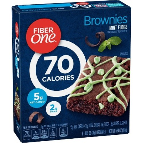 Fiber One Mint Fudge Brownies - 5.34oz