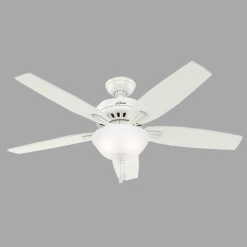 Hunter Newsome 52 in. Indoor Fresh White Bowl Light Kit Ceiling Fan