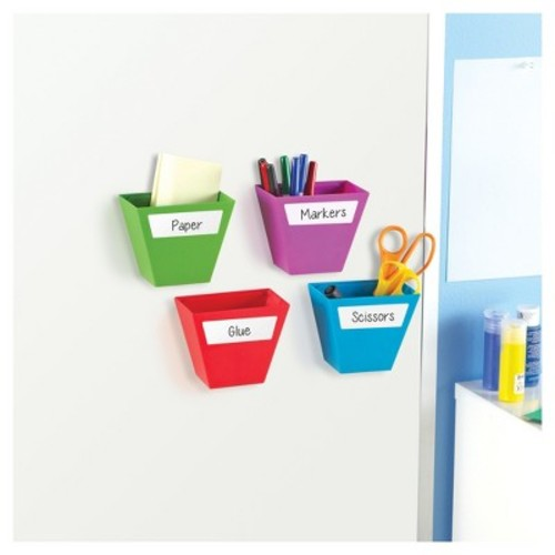 Learning Resources Create-A-Space Magnetic Storage Bins - Bright Colors