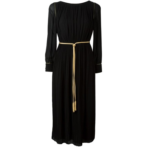 SAINT LAURENT Pleated Mid-Length Dress