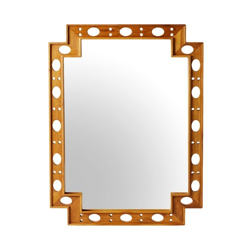 Earl Rectangular Mirror in Natural Teak design by Selamat