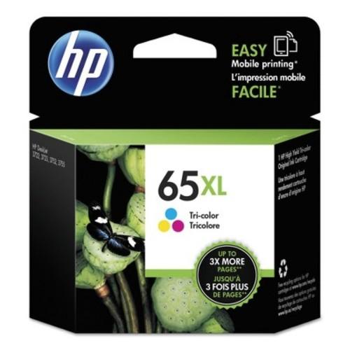 HP Inc. 65XL Tri-color Original Ink Cartridge (N9K03AN#140)