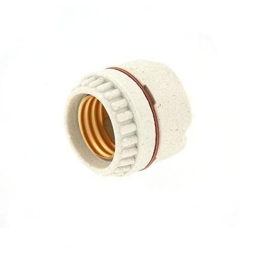 Leviton 9350 Medium Base, Two-Piece, Keyless, Incandescent, Unglazed Porcelain Lampholder, Ring-Type, Single Circuit, Back Wired, White