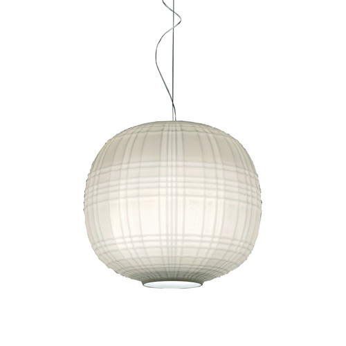 Tartan Pendant [Light Source : Incandescent; Finish : White; Cord Length : Standard: 78 in length]