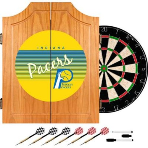Trademark 20.5 in. Indiana Pacers Hardwood Classics NBA Wood Dart Cabinet Set