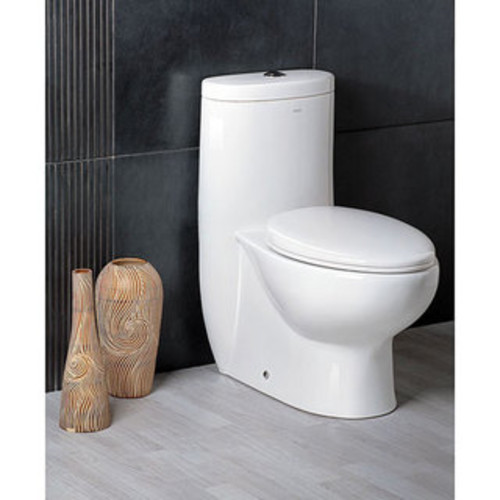American Standard Compact Cadet 3 FloWise Elongated One-Piece Toilet, White