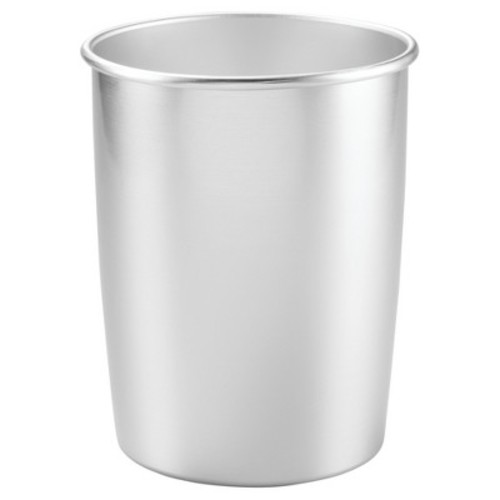 Rustproof Aluminum Wastebasket Gray - InterDesign