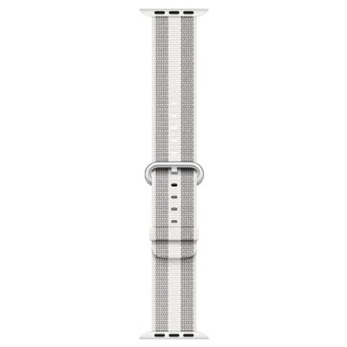 Apple Woven Nylon Band for 38mm Watch - Black Stripe