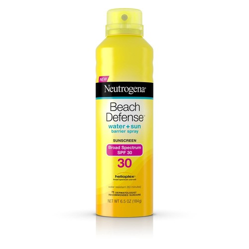 Neutrogena Sunscreen, Water + Sun Barrier Spray, Broad Spectrum SPF 30 6.5 oz (184 g)