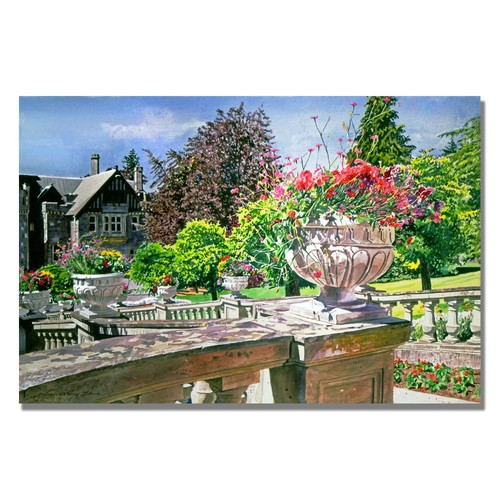 Trademark Global David Lloyd Glover 'Spring in Hatley Park' Canvas Art [Overall Dimensions : 18x24]
