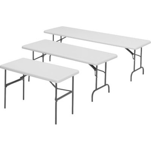 Iceberg 1200 Series Heavy Duty Commercial-Grade Indestruc-Tables Too Resin Folding Banquet Tables