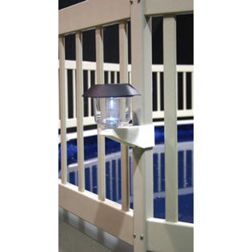 Swim Time Solar Light Kit For Above Ground Pool Fence - 4 Pack - Taupe