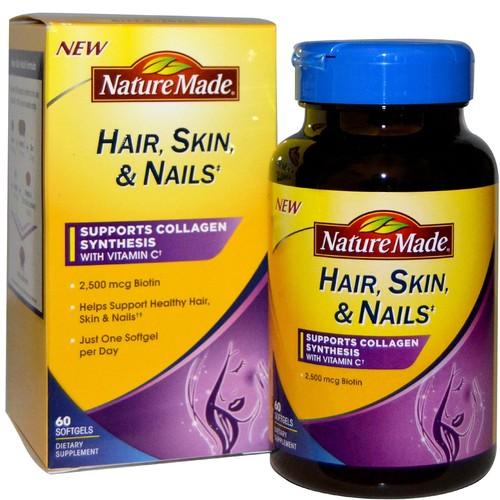 Nature Made Hair-Skin-Nails with 2500mcg of Biotin, 2.5mg, 30 Softgels