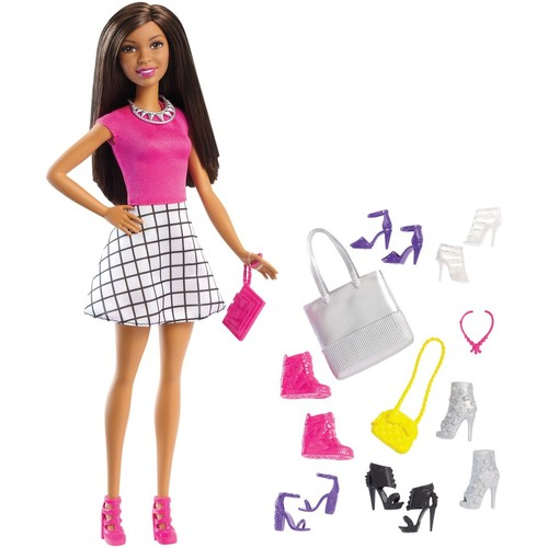 Barbie Nikki Doll & Shoe Set