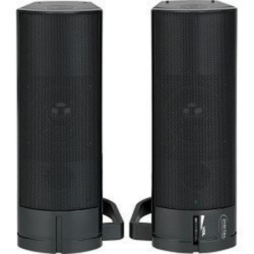 Digital Innovations AcoustiX USB Powered Speaker System  Magnetically Shielded Stereo Speakers with Sound Bar Configuration (4330200)