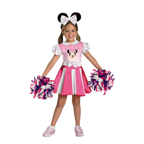Girls Minnie Mouse Cheerleader Halloween Costume