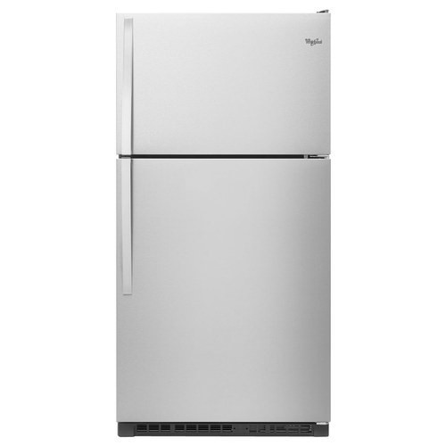 Whirlpool - 20.5 Cu. Ft. Top-Freezer Refrigerator - Monochromatic Stainless Steel