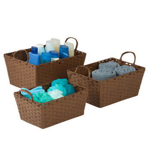 Honey-Can-Do Small Stacking Baskets - Brown
